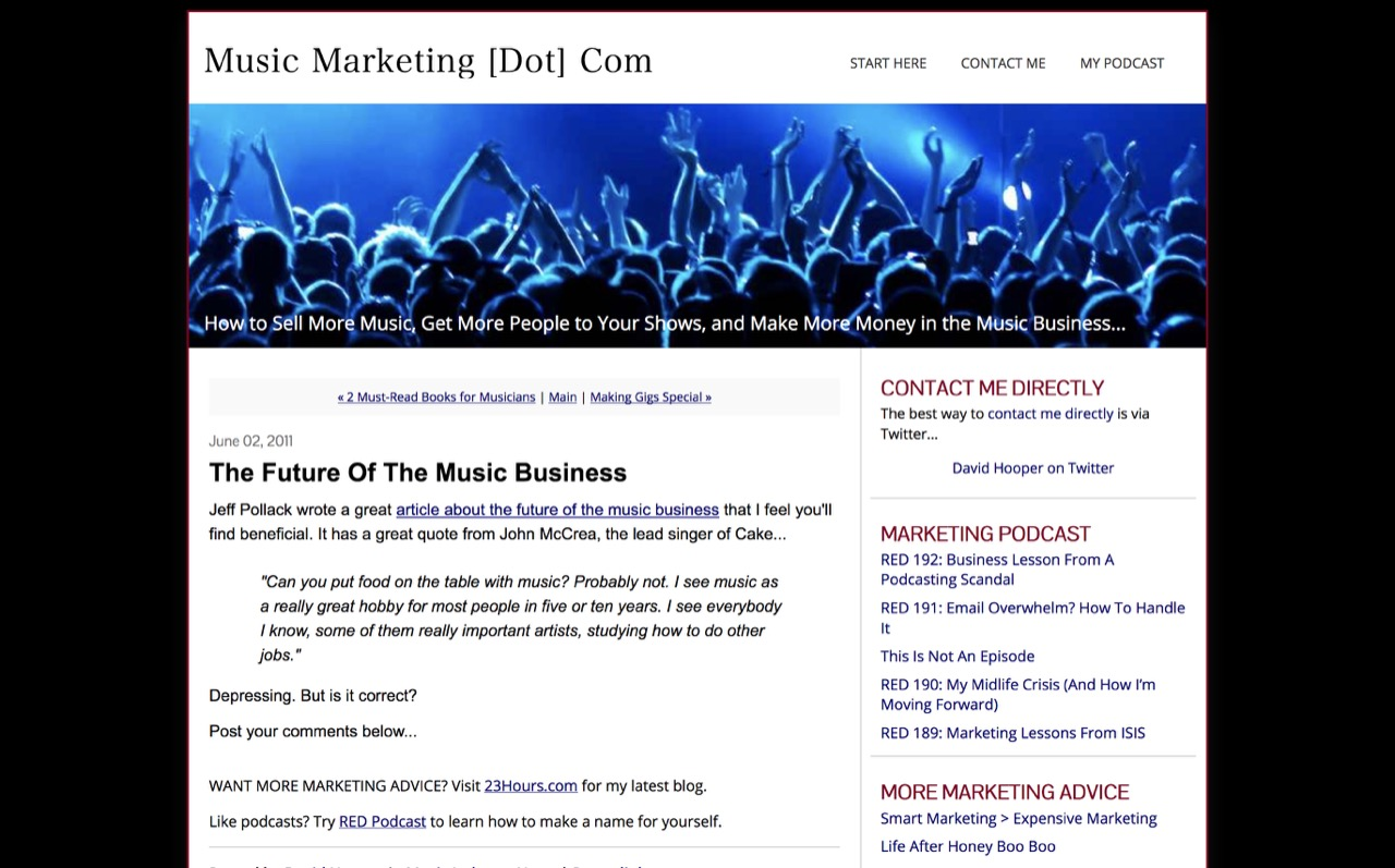 Music Marketing [dot] com: The Future of the Music Business(アーカイブ)