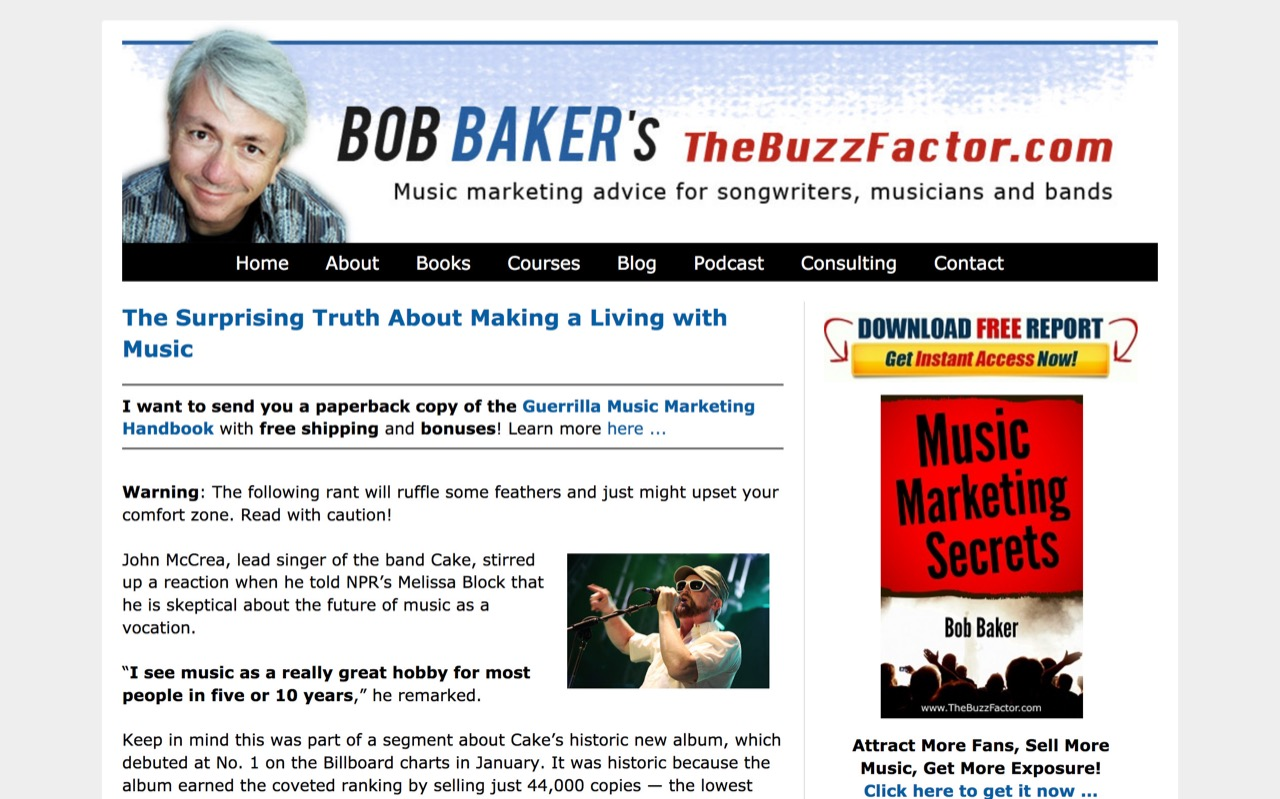 The Surprising Truth About Making a Living with Music - Bob Baker