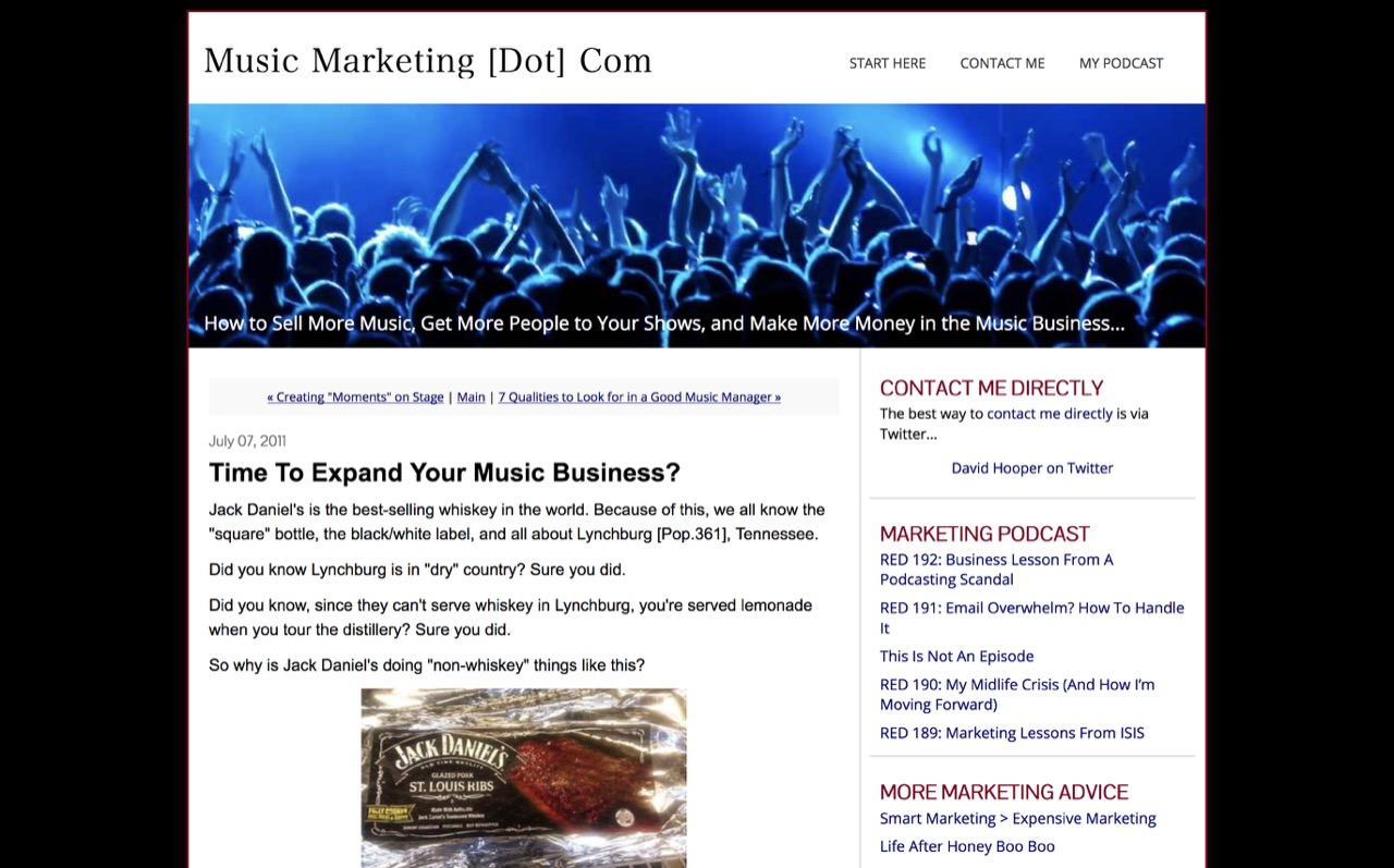 Music Marketing [dot] com: Time to Expand Your Music Business?(アーカイブ)