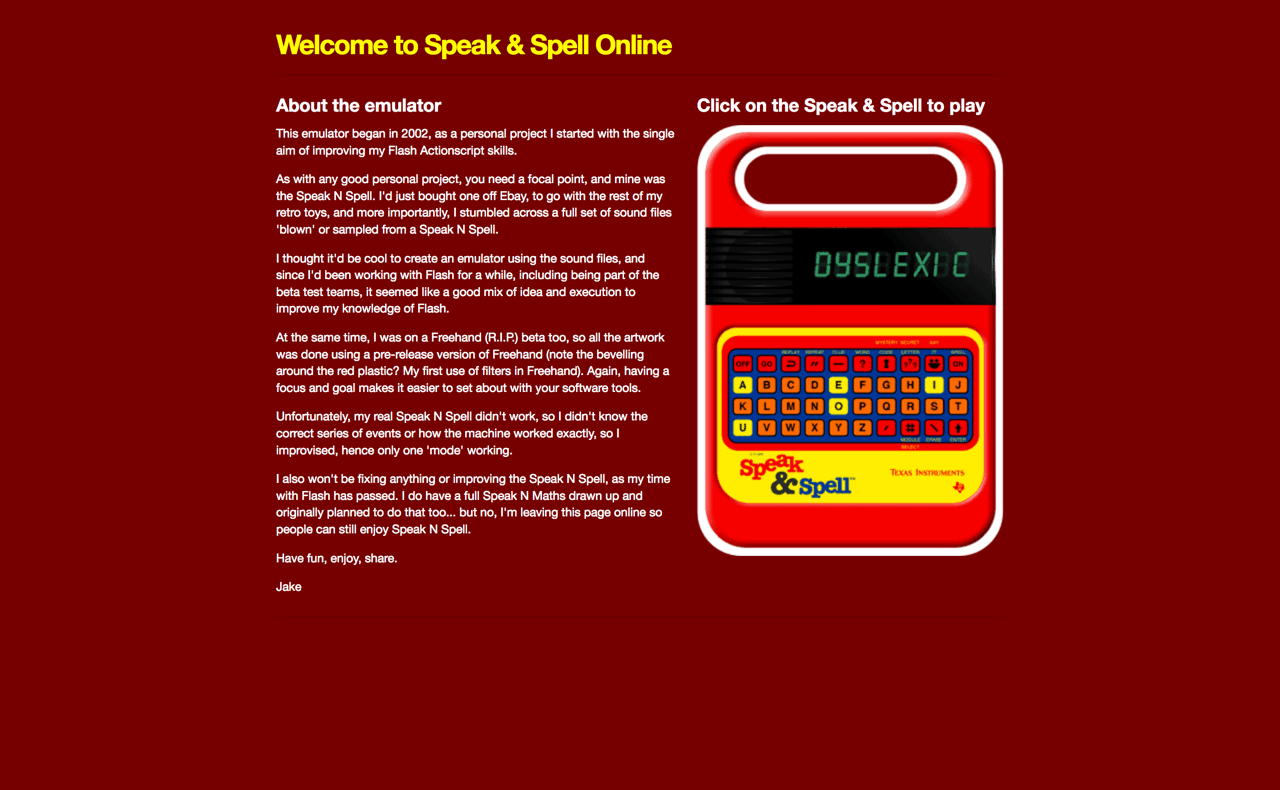 <a href=&quot;https://www.speaknspell.co.uk/&quot;>Speak &amp; Spell Texas Instruments simulator &#8211; Speak and Spell &#8211; retro toy emulator</a>&#8221; class=&#8221;wp-image-56218&#8243;/></a><figcaption><a href=