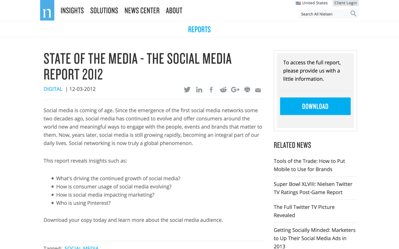 Reports and Insights | The Social Media Report 2012 | Nielsen