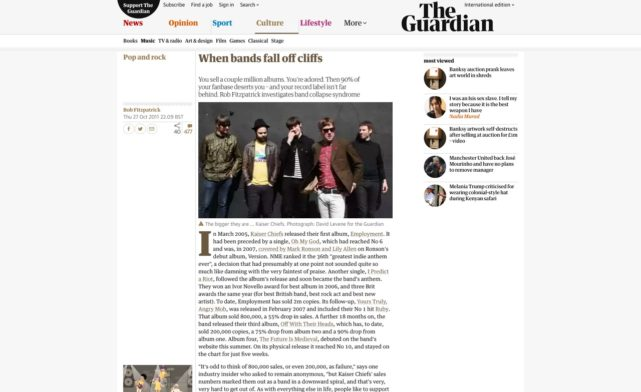 When bands fall off cliffs | Music | The Guardian