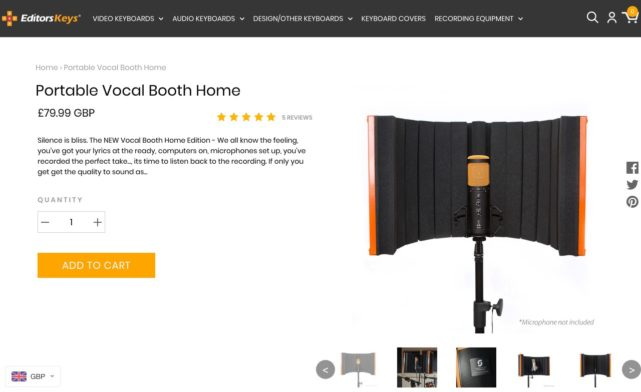 Portable Vocal Booth Home Edition - Record Perfect Vocals at home now – Editors Keys