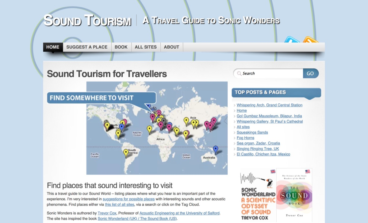 Sound Tourism | interesting sounding places and acoustic phenomena to visit