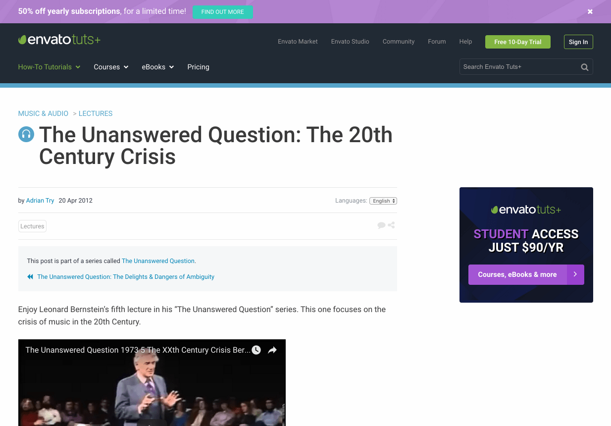 The Unanswered Question: The 20th Century Crisis