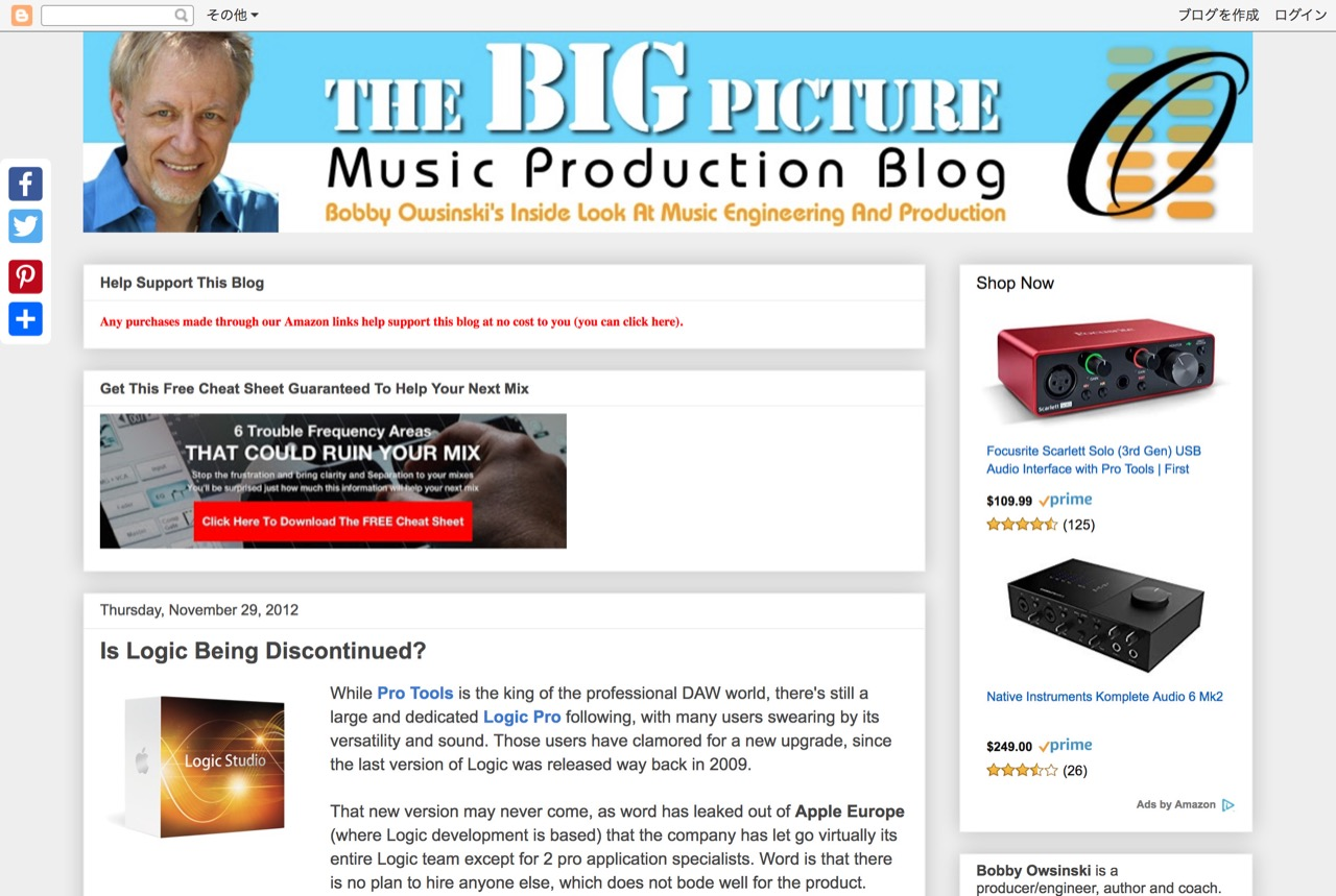 Bobby Owsinski's Big Picture Music Production Blog: Is Logic Being Discontinued?