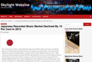 Japanese Recorded Music Market Declined By 15 Per Cent In 2013 – Skylight Webzine