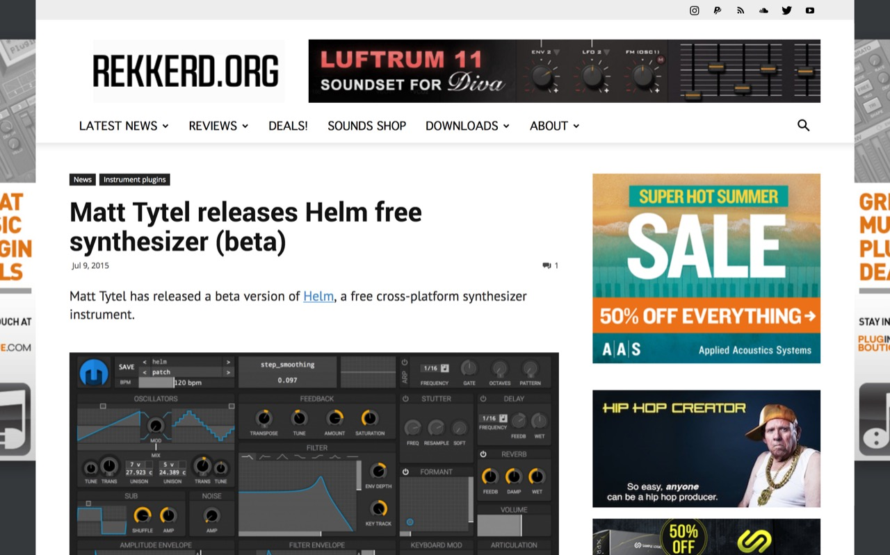 Matt Tytel releases Helm free synth beta