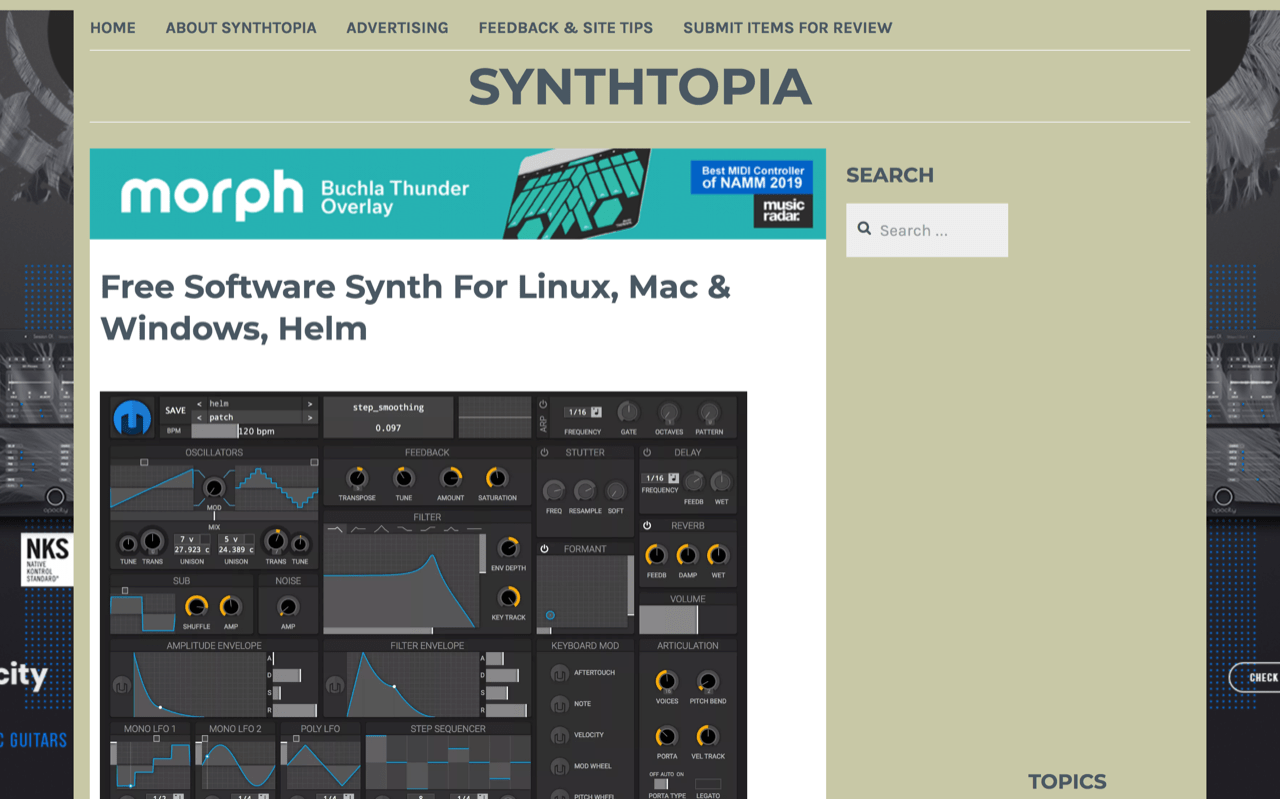 Free Software Synth For Linux, Mac & Windows, Helm – Synthtopia