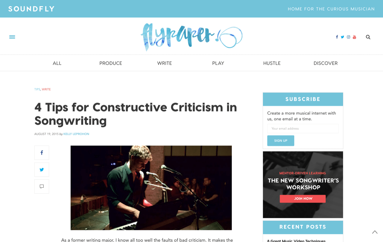 4 Tips for Constructive Criticism in Songwriting – Soundfly