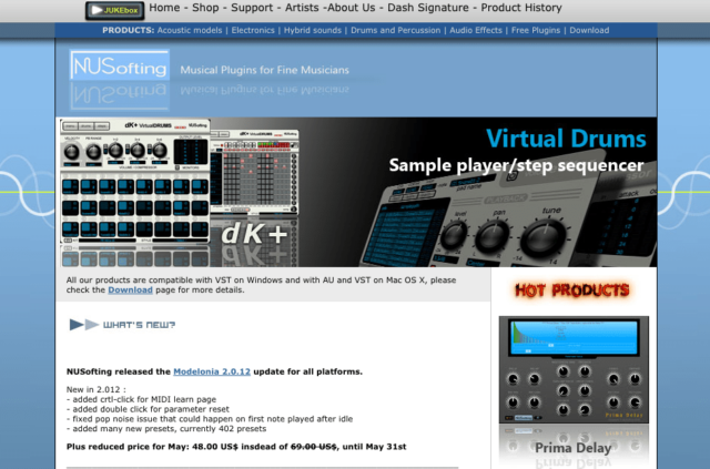 Audio Plugins for VST/AU | Physical Modeling and Virtual Analog Synths and Effects | NUSofting