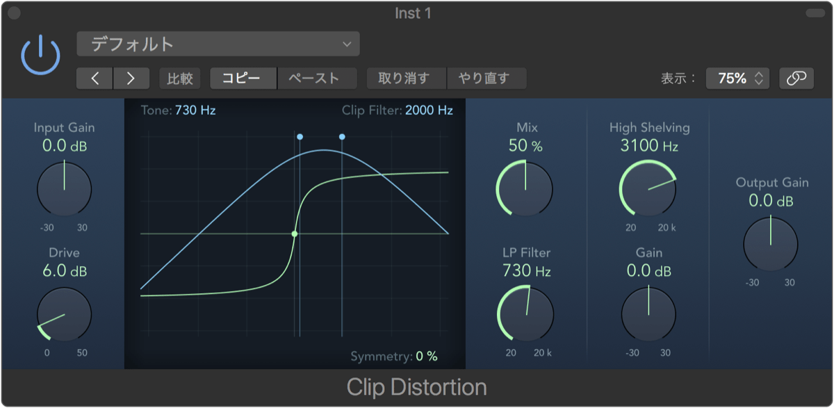 Logic Pro X 10.2.1 Clip Distortion