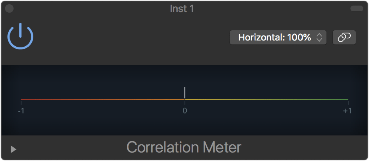 Logic Pro X 10.2.1 Correlation Meter