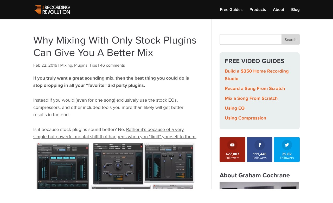 Why Mixing With Only Stock Plugins Can Give You A Better Mix - Recording Revolution