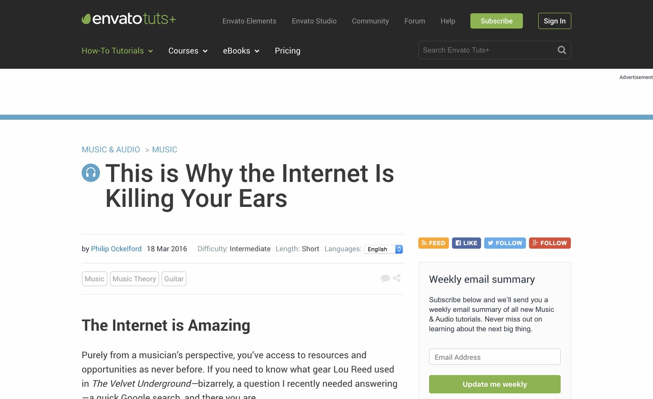 This is Why the Internet Is Killing Your Ears