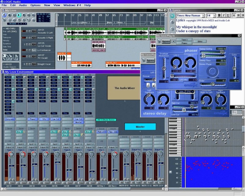 Logic Audio Platinum (PC) v4.0(©Treakheadz Lab)
