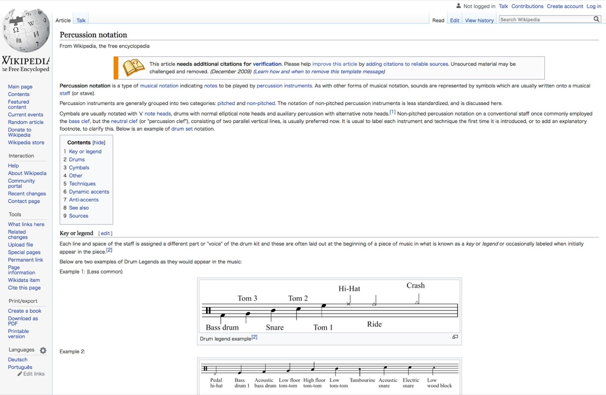 Percussion notation - Wikipedia