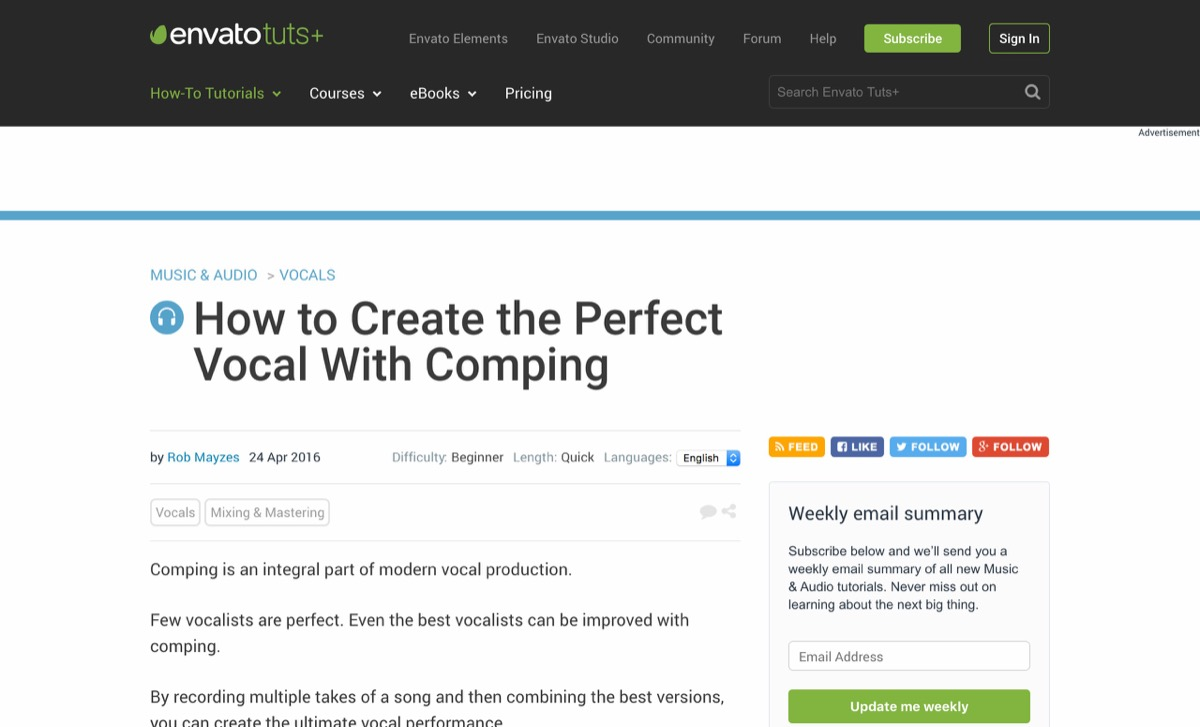 How to Create the Perfect Vocal With Comping