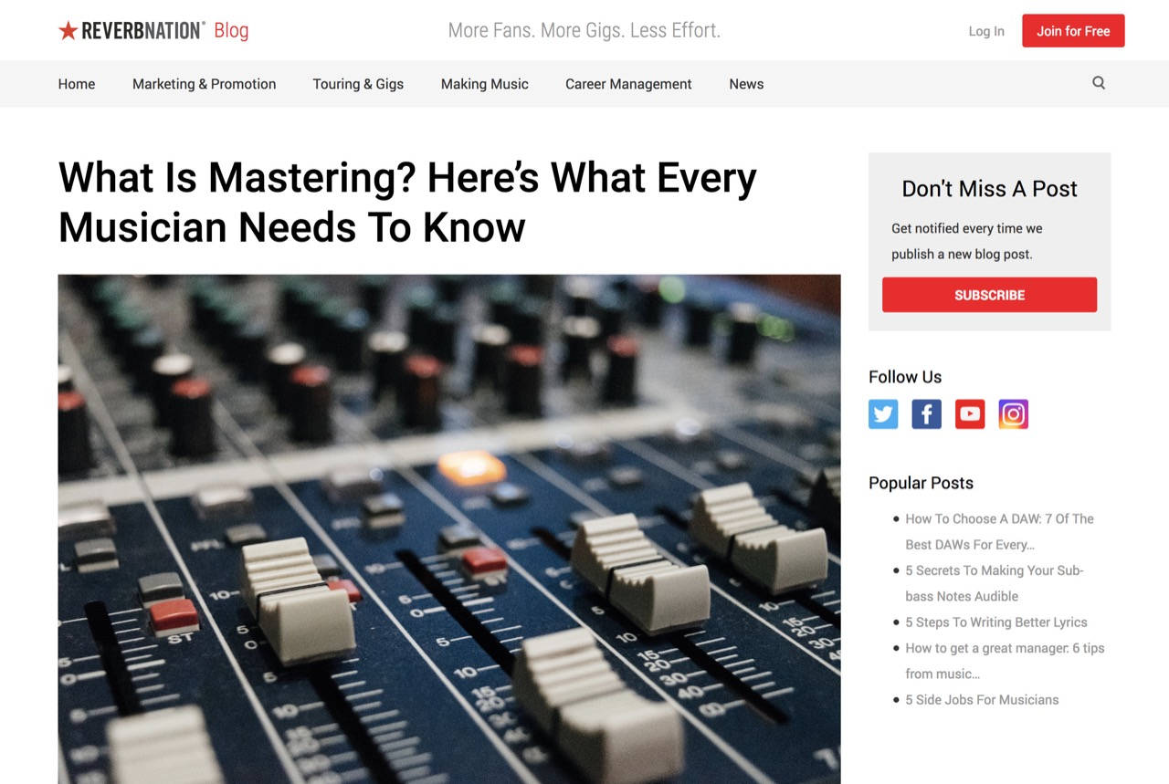 What Is Mastering? Here's What Every Musician Needs To Know | ReverbNation Blog