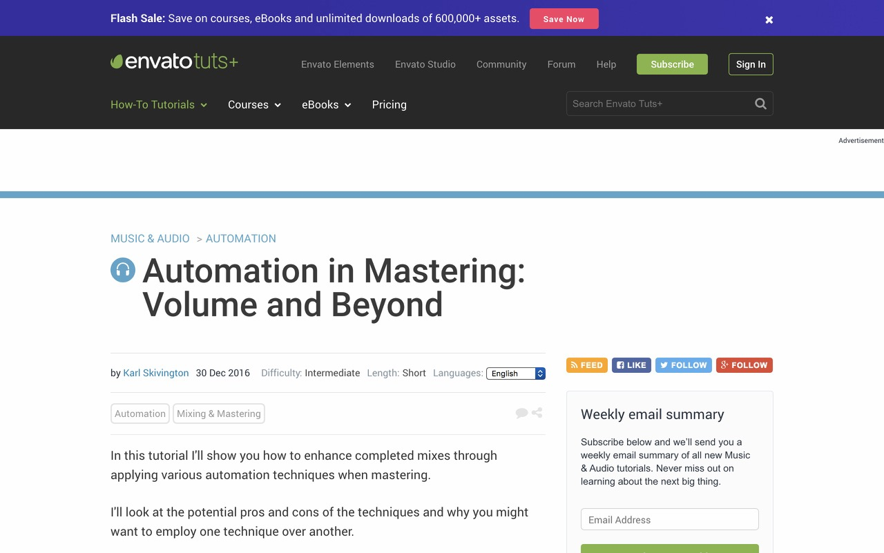 Automation in Mastering: Volume and Beyond