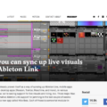 Now you can sync up live visuals with Ableton Link - CDM Create Digital Music