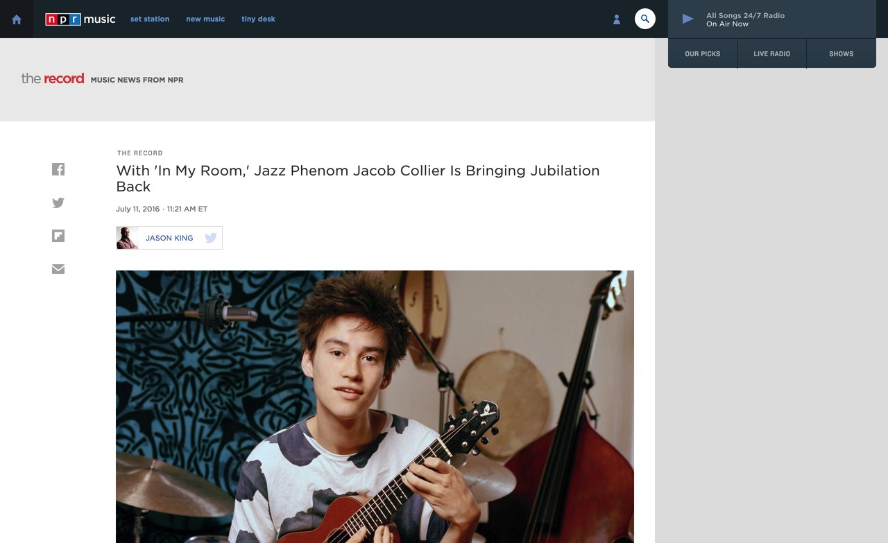 With 'In My Room,' Jazz Phenom Jacob Collier Is Bringing Jubilation Back : The Record : NPR