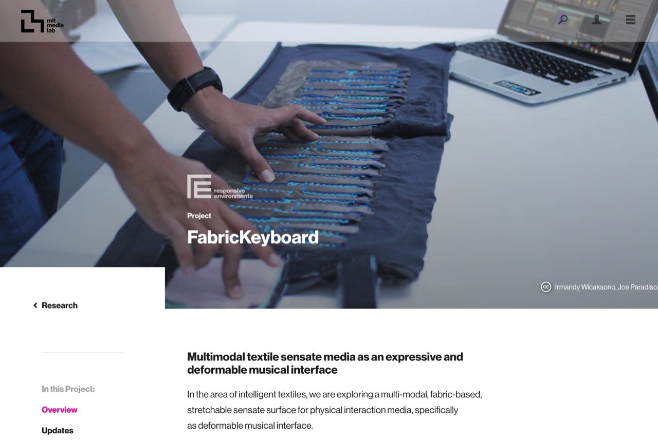 Overview ‹ FabricKeyboard — MIT Media Lab
