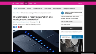 """IK Multimedia is readying an """"all-in-one music production station"""" 