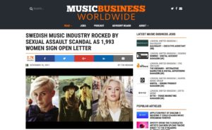 Swedish music industry rocked by sexual assault scandal as 1,993 women sign open letter - Music Business Worldwide