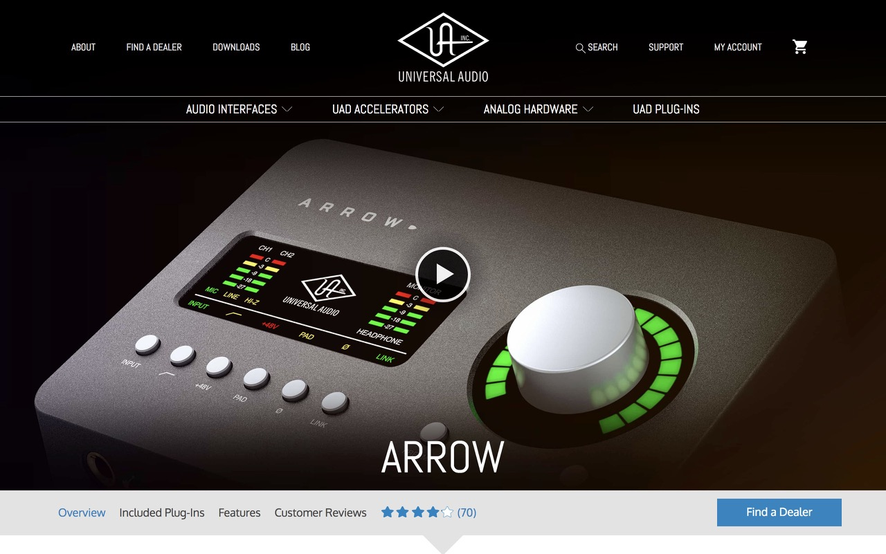 Arrow | Desktop Thunderbolt 3 Audio Interface | Universal Audio