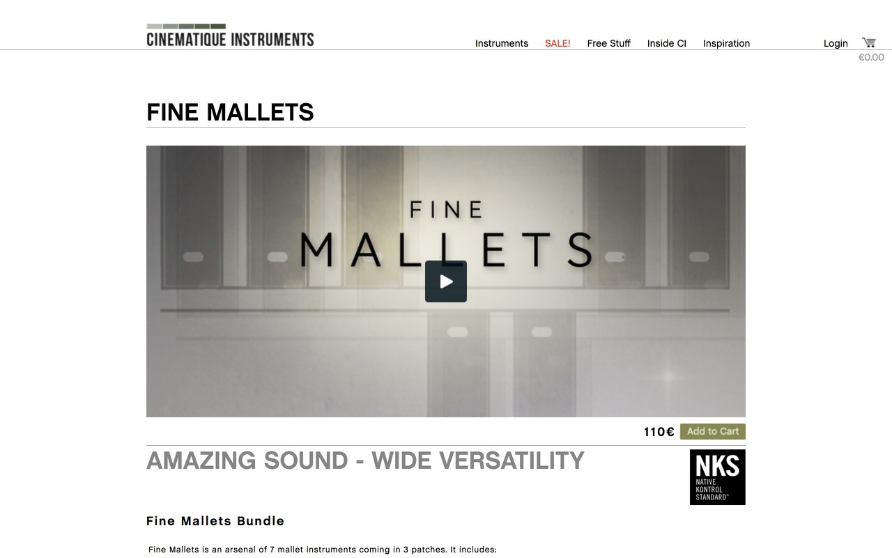 CINEMATIQUE INSTRUMENTS - FINE MALLETS