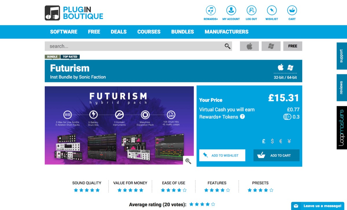 Futurism, Futurism plugin, buy Futurism, download Futurism trial, Sonic Faction Futurism