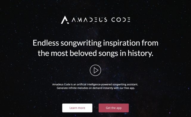 Get early access to Amadeus Code - artificial intelligence powered songwriting assistant