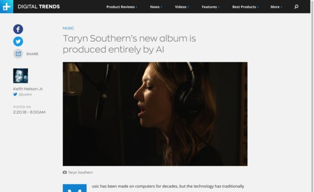 Taryn Southern Made An Album Entirely Produced By Artificial Intelligence | Digital Trends