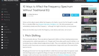 10 Ways to Affect the Frequency Spectrum Without Traditional EQ — Pro Audio Files