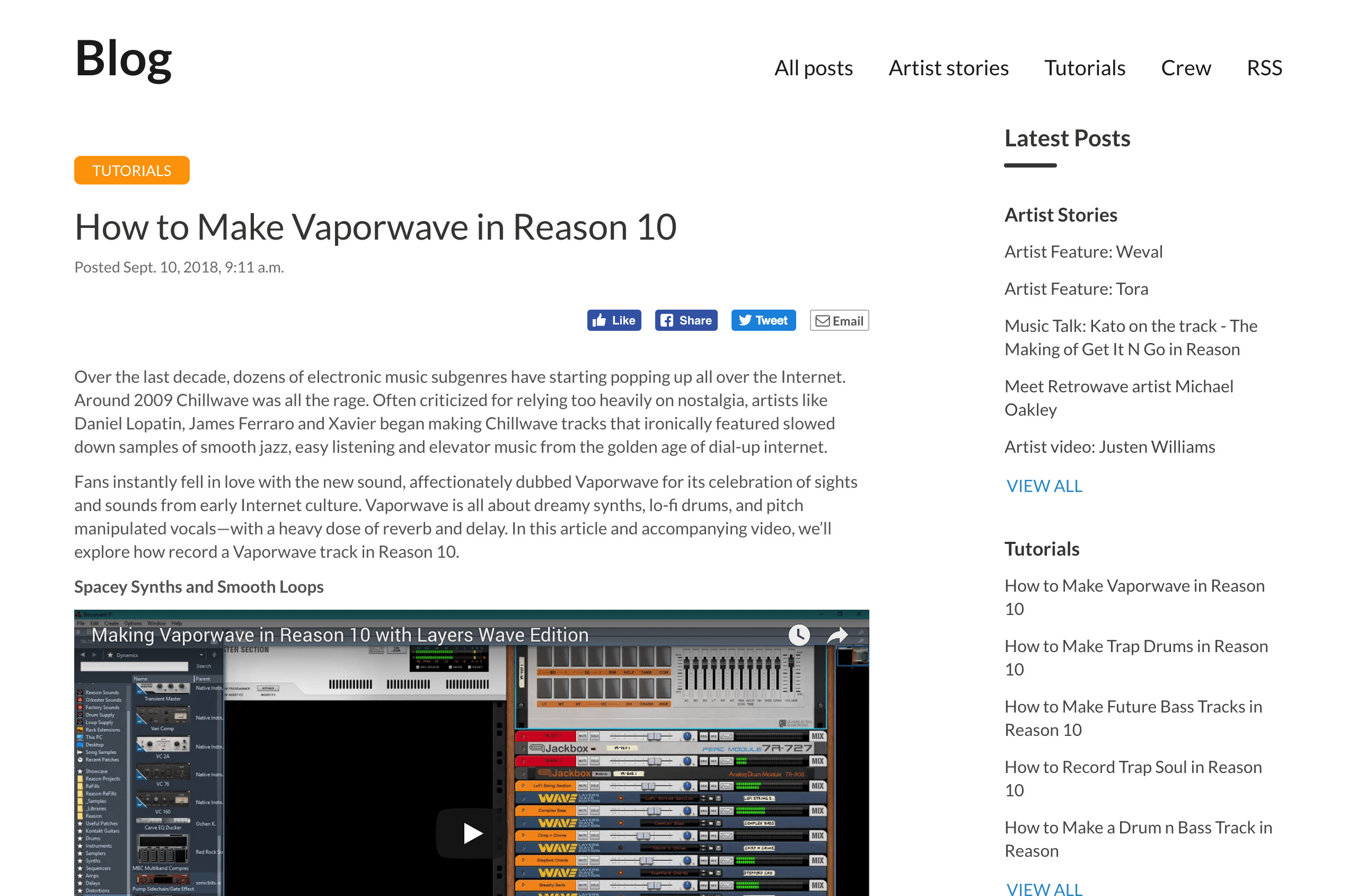 Learn how to make a Vaporwave track in Reason | PropellerheadPropellerhead