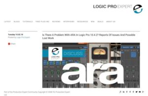 Logic Pro   Is There A Problem With ARA In Logic Pro 10.4.2? Reports Of Issues And Possible Lost Work