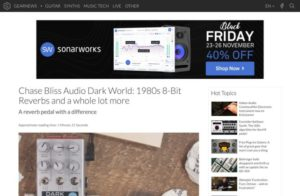 Chase Bliss Audio Dark World: 1980s 8-Bit Reverbs and a whole lot more - gearnews.com