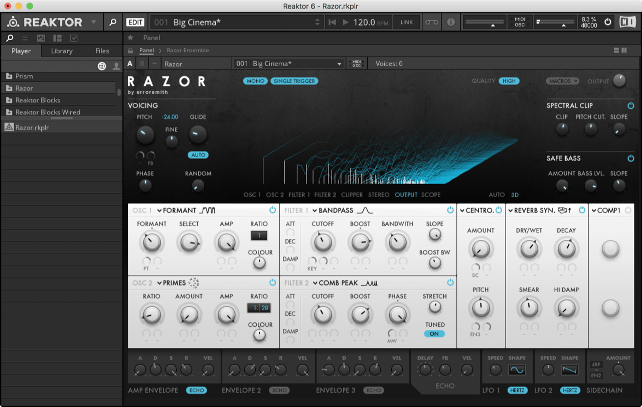 "Native Instruments Reaktor ""Razor"""