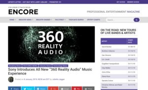 "Sony Introduces All New ""360 Reality Audio"" Music Experience - CelebrityAccess"