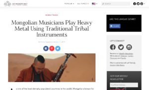 Mongolian Heavy Metal Band Perform Using Traditional Tribal Instruments