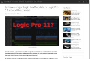 Is there a major Logic Pro X update or Logic Pro 11 around the corner? - gearnews.com