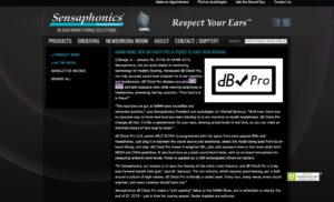 NAMM news: New dB Check Pro is poised to save your hearing | Sensaphonics