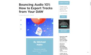Bouncing Audio 101: How to Export Tracks from Your DAW – Soundfly