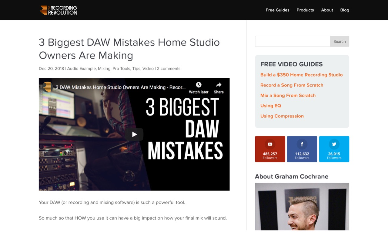 3 Biggest DAW Mistakes Home Studio Owners Are Making - Recording Revolution