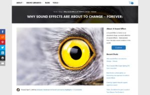 Why sound effects are about to change - forever: | A Sound Effect