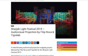 Sharjah Light Festival 2019 - Audiovisual Projection by Filip Roca & Tigrelab