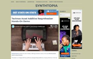 Technos Acxel Additive Resynthesizer Hands-On Demo – Synthtopia