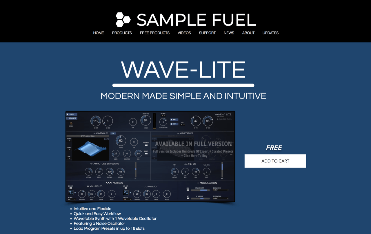 WAVE-LITE | Synth | Sample Fuel