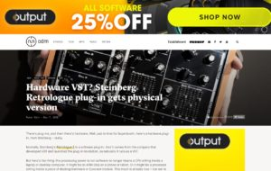 Hardware VST? Steinberg Retrologue plug-in gets physical version - CDM Create Digital Music